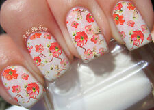 Amezing Flower A1026 Nail Art Stickers Transfers Decals Set of 22