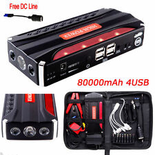 80000mAh Portable Car Jump Starter Pack Booster Power BANK Battery Charger SOS