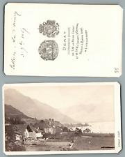 Demay, lac d' Annecy  vintage carte de visite, CDV, provenance album person