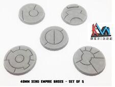 3D Printed 40mm Sci-Fi Xeno Empire Bases Set of (5) - Tau