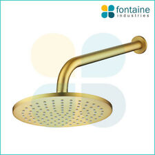 Shower Head Set Brushed Gold WELS AU Standard Modern Round Bathroom Wall NEW