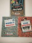 Lot 3 + 1  Where's Waldo Hardcover Books Banned Beach Martin Handford BONUS XMEN