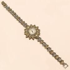 Silver Fine Women Valentine Jewelry Thailand Marcasite Wrist Watch 925 Sterling