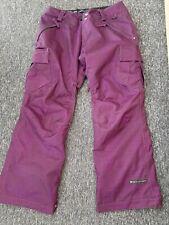Unisex Ride Ski wear  Snowboard Pants Salopettes purple size med mens ladys