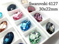 12 un 15x7mm 4228 piedras de Swarovski UNDRILLED Nosso marquesa para Collar