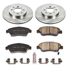 Power Stop KOE694 - 1-Click Autospecialty Replacement Plain Front Brake Kit