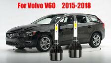 LED For Volvo V60 2015-2018 Headlight Kit H7 6000K White CREE Bulbs Low Beam