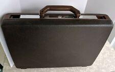 Samsonite Broker Brown Hardshell Briefcase Attache Case Vintage 1980s - No Key