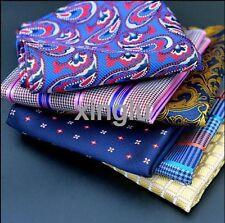 HZ F-1P mens handkerchief lot Pocket Square Paisley Polka Plaids Hanky 150 color