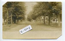 PM Otego NY (Otsego Co) RPPC real photo street view, homes, tiny man, early