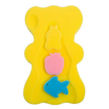 Cute Non Slip Baby Care Bath Sponge Cushion Pad Bathroom Shower Mat Yellow