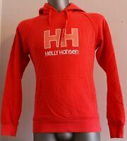 Womens HELLY HANSEN Sweatshirt Cotton Jacket Hooded Pink Orange Hoodie Size M