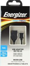 Energizer Hightech On-The-Go USB A (Female) to Micro USB Cable 15cm