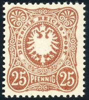 DR 1887, MiNr. 43 c, tadellos postfrisch, gepr. Wiegand, Mi. 100,-
