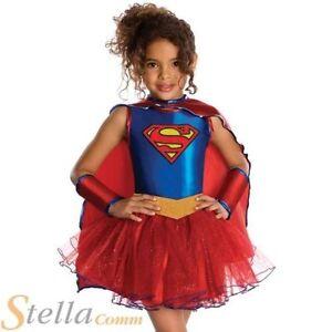 filles Supergirl tutu Déguisement super héros enfant costume déguisement