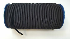 10mm Black Elastic Bungee Rope Shock Cord Tie Down Boats Trailers 500mm - 100m