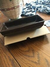 Longaberger Woven Traditions Rectangle Bowl in Chocolate