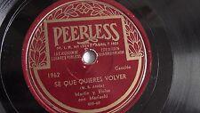 Martin Y Eloise - 78rpm single 10-inch – Peerless #1962 Se Que Quieres Volver