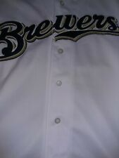 MLB Milwaukee Brewer's 4XL Majestic White Baseball Jersey With Sewn Patch