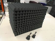Acoustic Studio Soundproofing Foam Panels Wedge/Pyramid (12) 24'' x 48'' x 4''