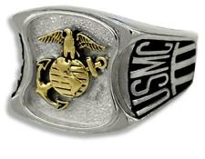 MARINE CORPS SIGNET MILITARY RING SIZE 7 8 9 10 11 12 13 14 15 MADE IN USA