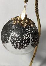 Jason Wu Black Lace Clear Glass Ball Christmas Ornament Neiman Marcus