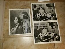 3 Vintage 8 x 10  Photos of Dolores Del Rio from her Movie career DS9084