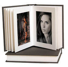 "Professional Slip-In Album: Grey, 4x6"" 10 photos-white pages"
