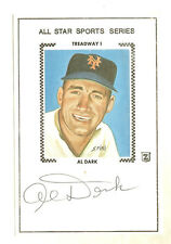 AL DARK ALL STAR SPORTS SERIES AUTOGRAPHED SIGNED CACHE NEW YORK GIANTS