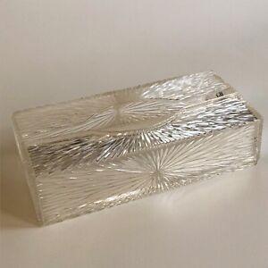 Vtg CELEBRITY Acrylic Kleenex Plastic Tissue Box Cover Holder Starburst MCM