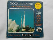 Moon Rockets and Guided Missiles  View Master  S4 Packet  1959   Rare
