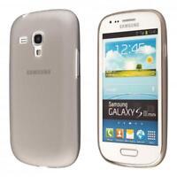 Samsung Galaxy S3 mini i8190 custodia protettiva morbida grigio case cover