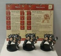 Lot of 3 D&D Miniatures Mercykiller #40 Blood War Dungeons & Dragons