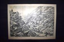 La Ferrovia del Gottardo - Gallerie Biasca in Val Leventina Incisione del 1882
