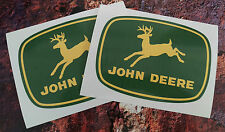 2 X JOHN DEERE STICKERS DECALS 150mm x 110mm Tractor farming agriculture