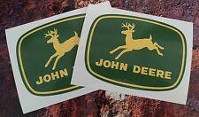 2 X Pegatinas Calcomanías De John Deere 150mm X 110mm Tractor Agrícola Agricultura