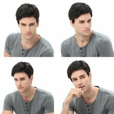 Fashion Handsome Short Curly Synthetic Wig Dark Brown Natural Men's Hair Wigs