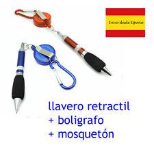 porte-clés rétractable correa avec mousqueton et stylo à bille couleurs