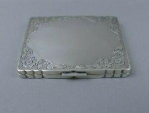 Zigarettenetui 935 Silber vergoldet feine Arbeit solid silver cigarette case