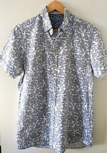 Ted Baker London Short Sleeve Mens Button Up Shirt Cotton Size 3