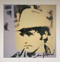 ANDY WARHOL HAND SIGNED SIGNATURE * DENNIS HOPPER *  COLOR PLATE