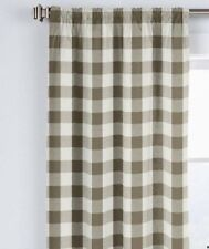 COUNTRY CURTAINS Chocloate Brown BUFFALO CHECK Pair