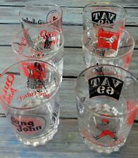 Scotch Whiskey Set Of 6 Whiskey Glasses . 3 SETS OF 2 WITH DIFFERENT GRAPHICS,
