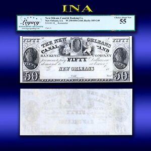 Louisiana New Orleans Canal Bank $50 LEGACY Choice AU 55 Perfect Margins White
