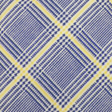 ISAIA Navy White Yellow HOUNDSTOOTH PLAID Self-tipped Silk Cotton Blend Tie NWOT