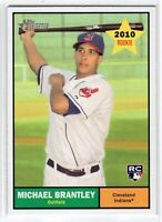 2010 Topps Heritage Baseball Rookie Card RC #172 Michael Brantley Indians
