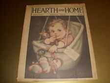 Vintage HEARTH AND HOME Magazine, HAPPY NEW YEAR, January, 1928, Augusta, Maine!