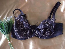 Fantasie Salsa 2761 Charcoal Mix Underwired Embroidered Balcony Bra 34DD
