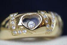 LOVE Chopard Happy Diamond 18ct Yellow Gold Ring, Size L, Ref: 82/2899-20