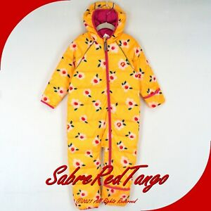 NWT HANNA ANDERSSON INSULATED SNOWSUIT SUNSHINE YELLOW FLORAL PRINT 90 3T 3